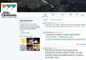 Alès compte Twitter