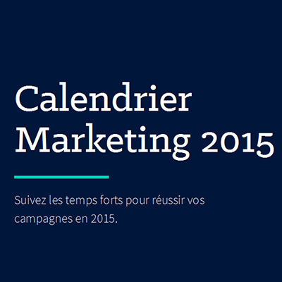 calendrier marketing 2015
