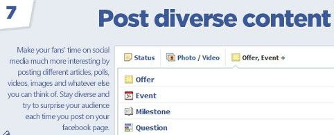 diversité posts Facebook