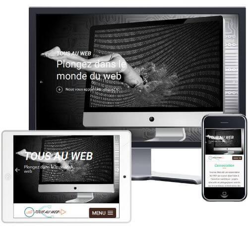 création du site internet Tous au Web