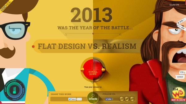 l'histoire du flat design et du réalisme