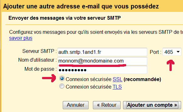 adresse smtp 1and1