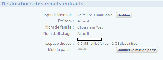 destination email 1and1