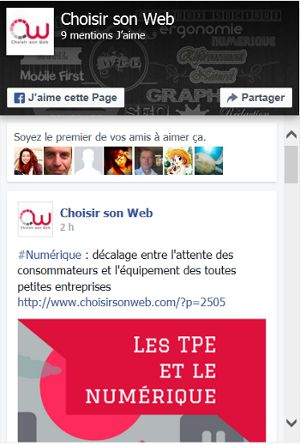 plugin Facebook avec posts