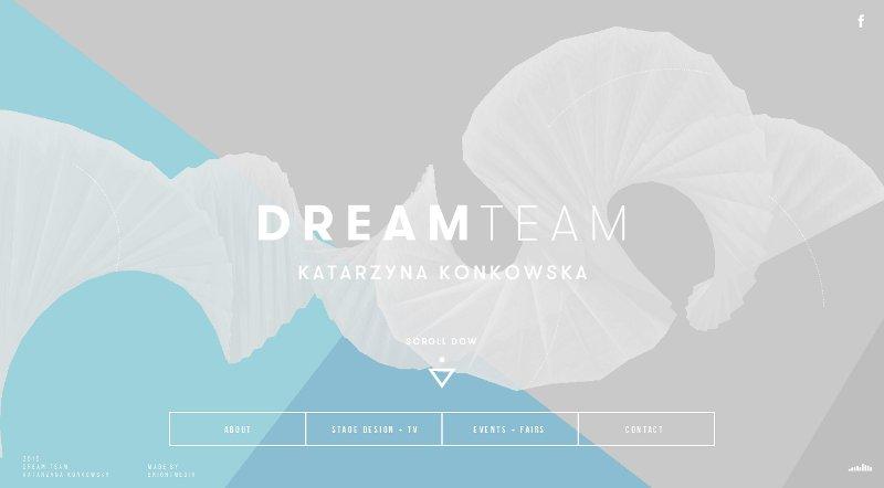 site web gris et bleu